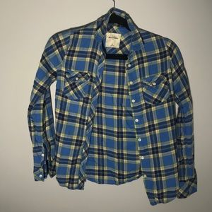 Abercrombie kids button up flannel
